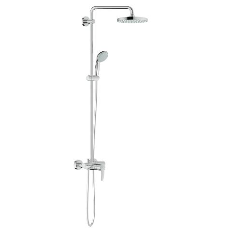 Tempesta Cosmopolitan 200 Shower system with single lever mixer for wall mounting