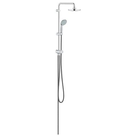 Flex shower system with diverter for wall mounting