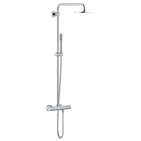 Rainshower System 210 Shower system with thermostat for wall mounting