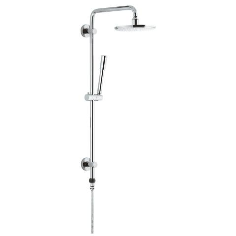 瑞雨系统 210 Shower system with GrohClick without fitting for wall mounting