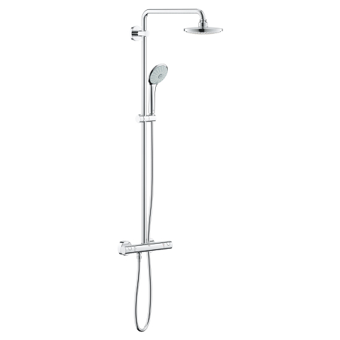 Euphoria System 180 Shower system with thermostat for wall mounting