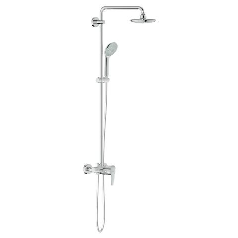 Shower system with single lever for wall mounting