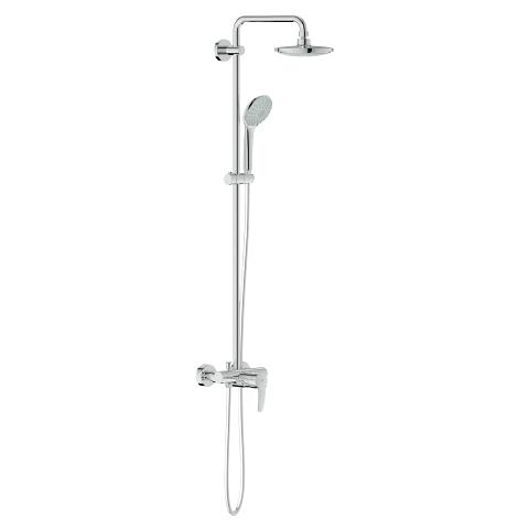 Euphoria System 180 Shower system with single lever mixer for wall mounting