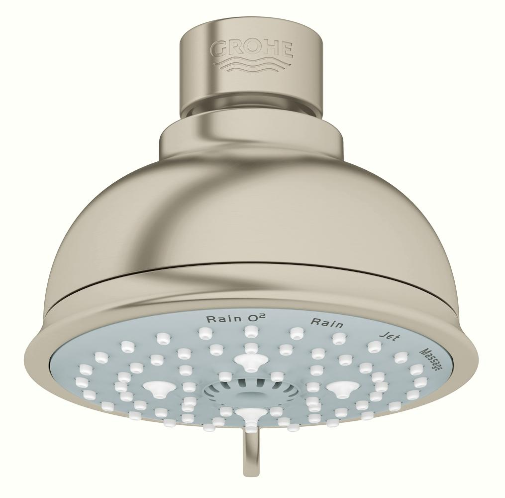 GROHE 26 045 ENO BRUSHED NICKEL SHOWERHEAD TEMPESTA RUSTIC MC333091
