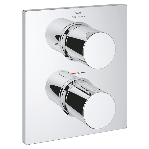 Thermostatic Trim with integrated 2-way diverter