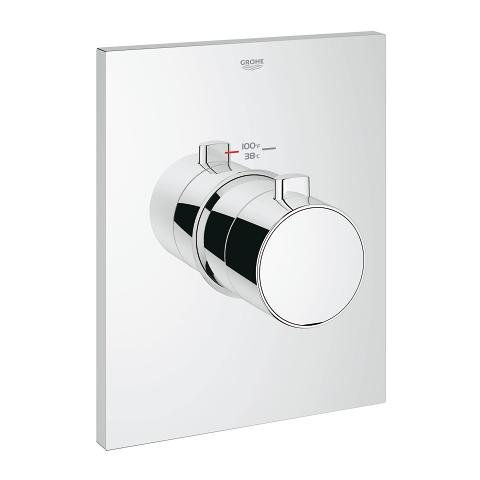 Thermostatic trim with temperature control module