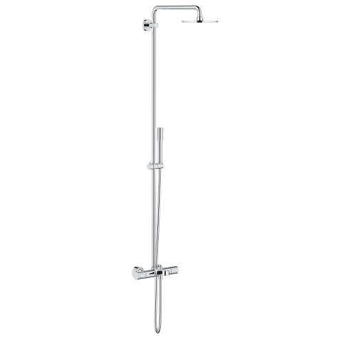 Rainshower System 210 Shower system with Bath Safety Mixer for wall mounting