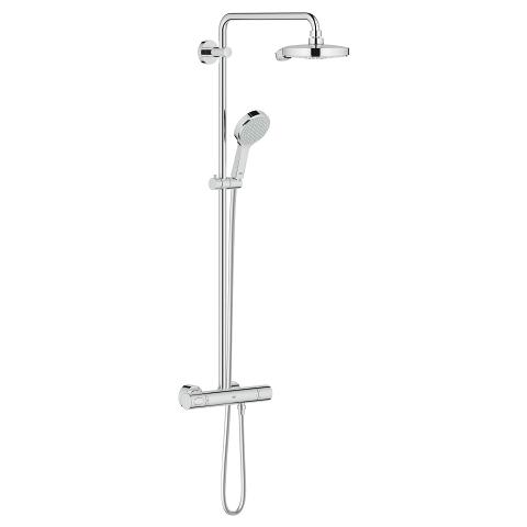 Power&Soul Cosmopolitan System 190 Shower system with thermostat for wall mounting