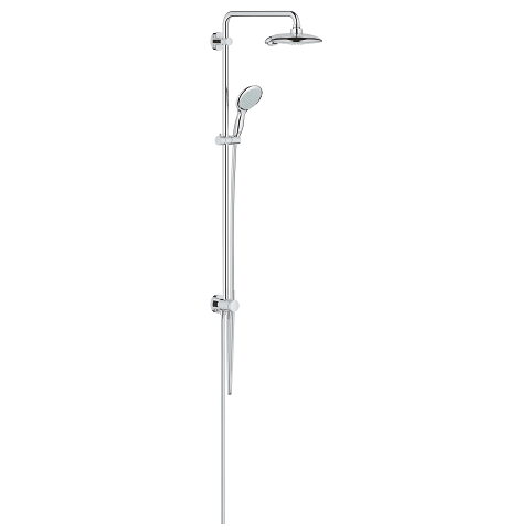 Shower system with diverter for wall mounting