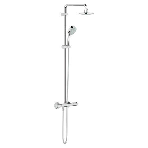 Tempesta Cosmopolitan 160 Shower system with thermostat for wall mounting