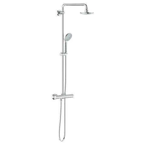 Euphoria System 160 Shower system with thermostat for wall mounting