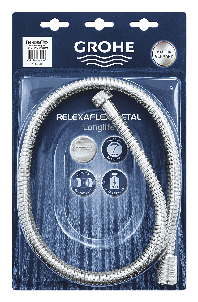 Relaxaflex Metal Longlife Flexible de douche métal 1500