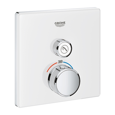 Thermostat for concealed installation with one valve