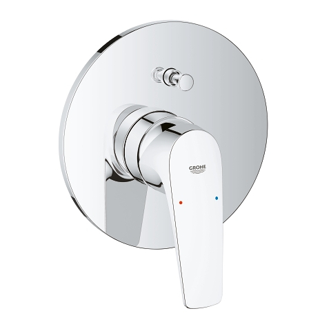 BauFlow Single-lever bath/shower mixer trim