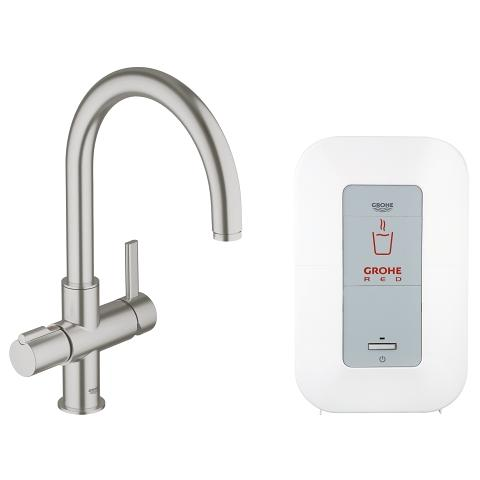 GROHE Red Duo Faucet and single-boiler (4 liters)