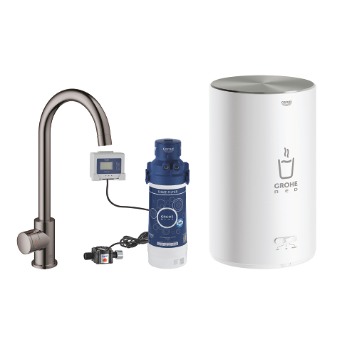 GROHE Red Mono Pillar tap and M size boiler