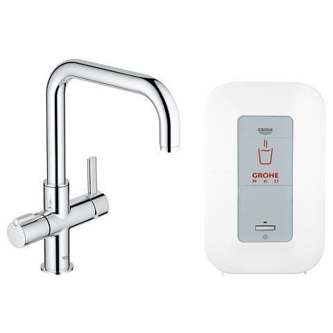 GROHE Red Duo Armatur und Single-Boiler (4 Liter)