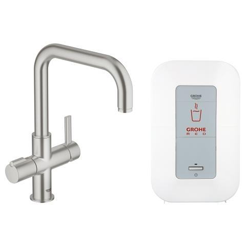 GROHE Red Duo bateria z boilerem (4 litry)