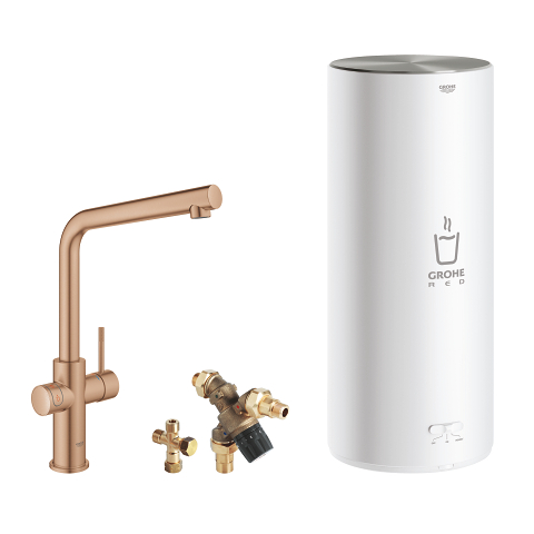 Faucet and L size boiler