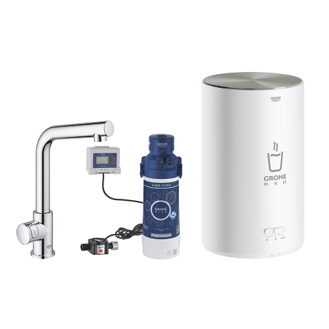 Pillar tap and M size boiler