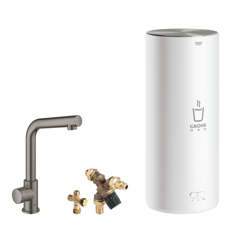 Pillar tap and L size boiler