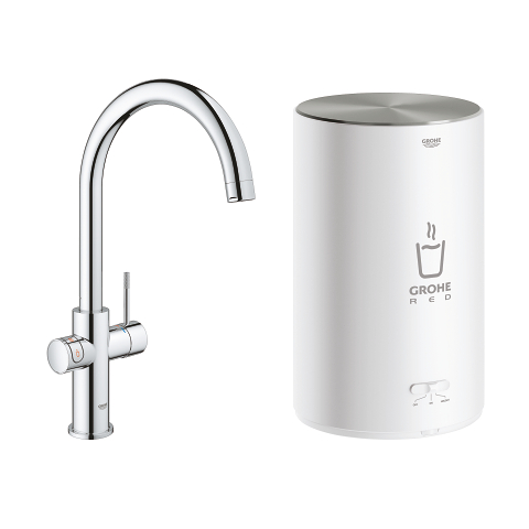 GROHE Red 3-in-1 Kraan en M-Size boiler