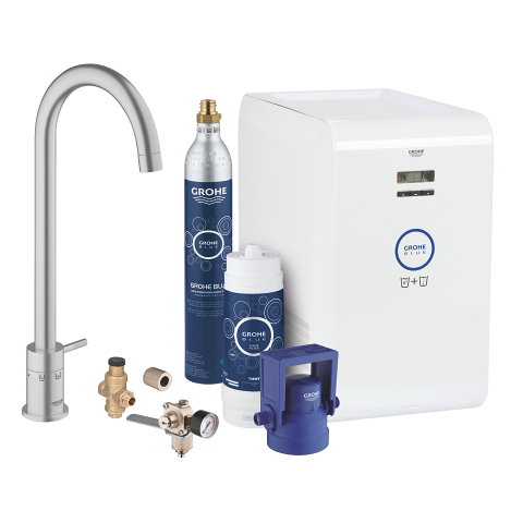 GROHE Blue Mono Chilled and Sparkling Starter kit