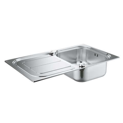 K300 Stainless steel sink with drainer