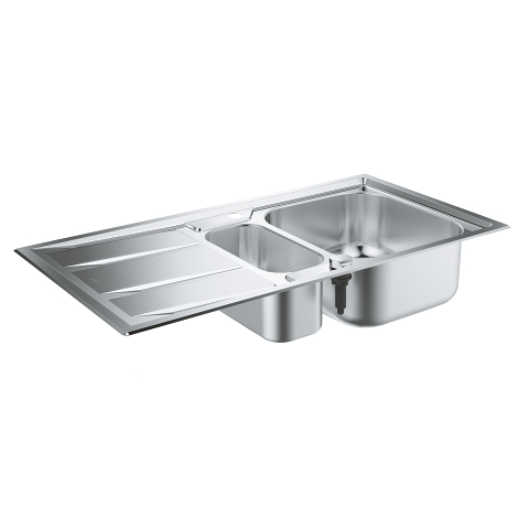 Stainless steel sink with drainer