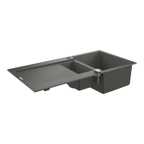 Composite sink with drainer