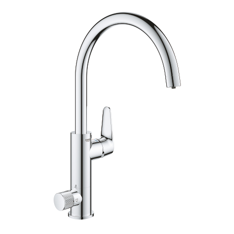 Single-lever sink mixer with filter function