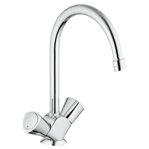 Two-handle sink mixer