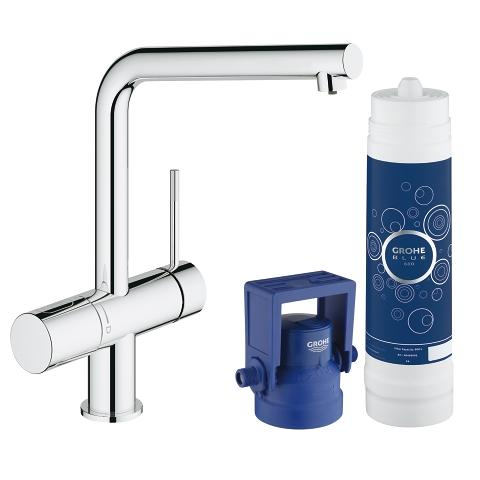 grohe blue minta pure starter kit grohe. Black Bedroom Furniture Sets. Home Design Ideas