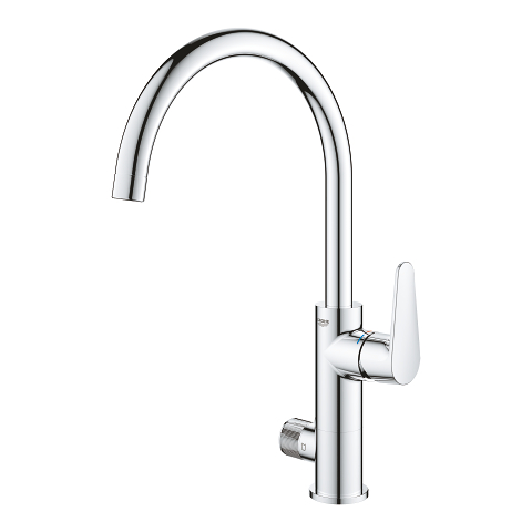 GROHE Blue Pure BauCurve Single-lever sink mixer with filter function