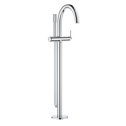 Single-lever bath mixer floor mounted