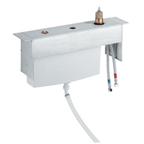 Three-hole single-lever bath combination