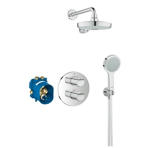 Grohtherm 2000 Perfect shower set met Power&Soul Cosmopolitan 190