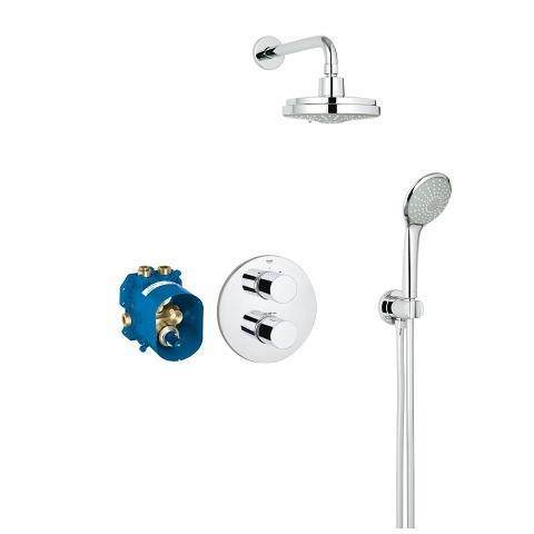Perfect shower set met Rainshower Cosmopolitan 160