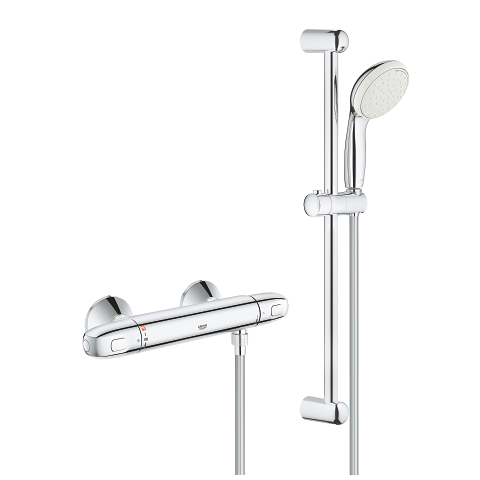 Grohtherm 1000 Thermostatic shower mixer 1/2″ with shower set