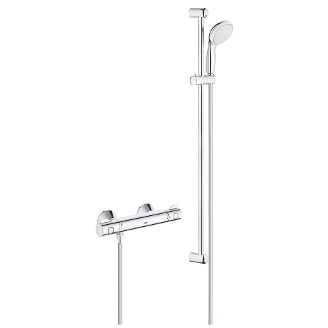 Grohtherm 800 Thermostatic shower mixer 1/2″ with shower set