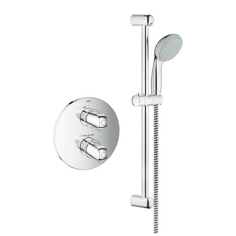 Concealed shower set