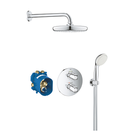 Grohtherm 1000 Perfect shower set with Tempesta 210