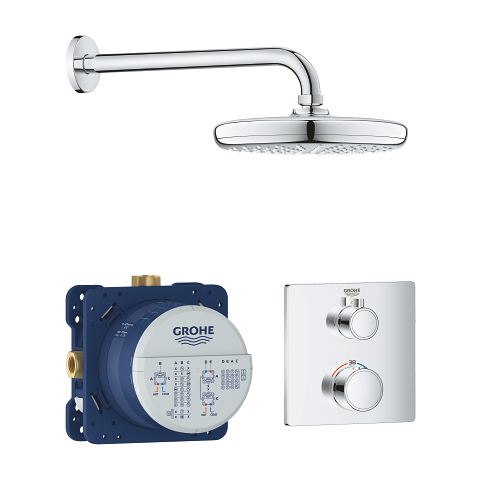 Perfect shower set with Tempesta 210