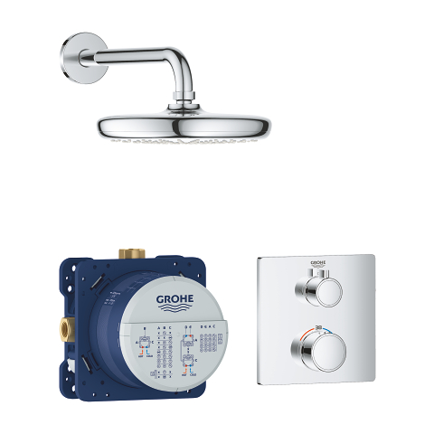Grohtherm Perfect shower set with Tempesta 210