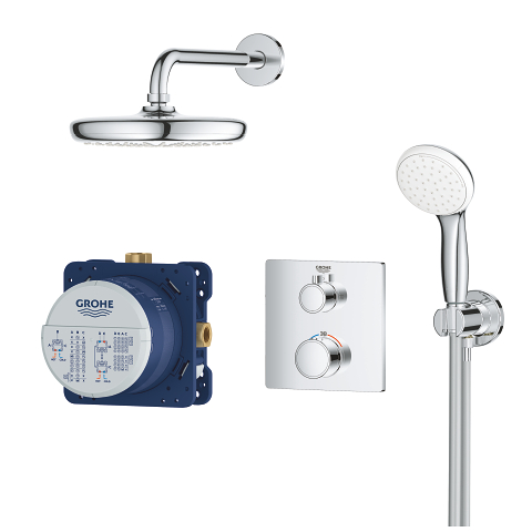 Grohe Grohtherm 2000 Perfect Shower Set.Grohtherm Perfect Shower Set With Tempesta 210 Grohe