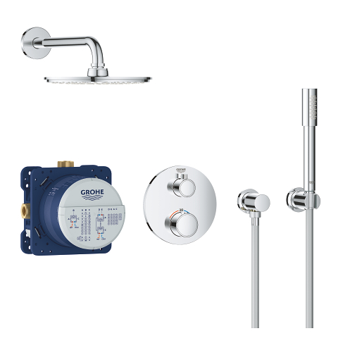 Grohtherm Perfect shower set with Rainshower Cosmopolitan 210