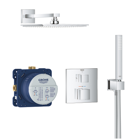Grohtherm Cube Perfect shower set with Rainshower Allure 230