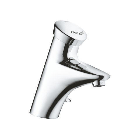 Eurodisc SE Self-closing basin mixer with mixing device and adjustable temperature limiter