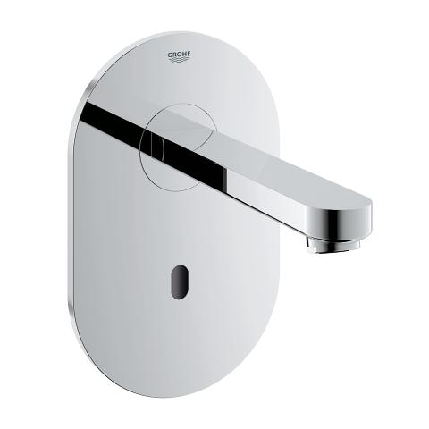 Euroeco Cosmopolitan E Infra-red electronic wall basin tap without mixing device