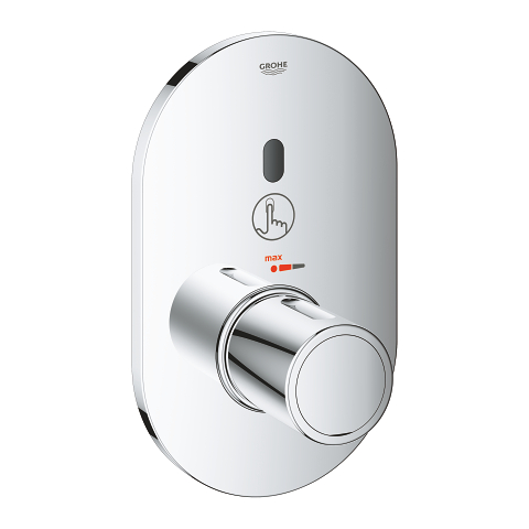 Infra-red electronic for concealed shower thermostat
